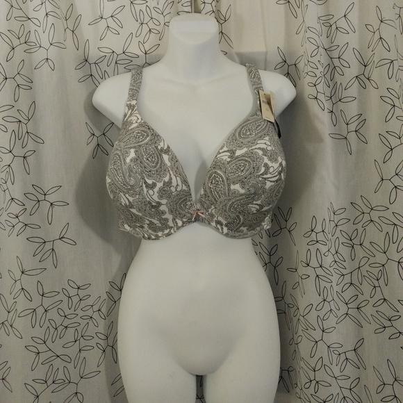 Cacique Other - Cacique Lane Bryant Cotton Boost Plunge 40G bra